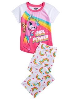 Disney Big Girls 2-Pc. Rainbow Butterfly Unicorn Kitty Pajama Set