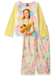 Disney Big Girls' Beauty and The Beast Belle 2-Piece Pajama Set