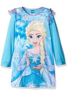 Disney Big Girls' Frozen Long-Sleeve Nightgown Blue 10