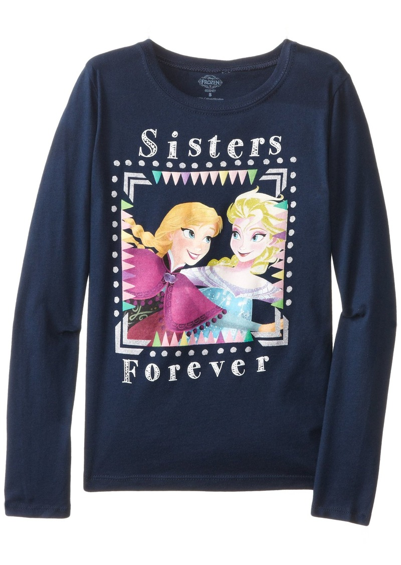 Disney disney big girls 39 frozen sisters forever t shirt for Oversized disney t shirts