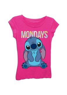 Disney Big Girls' Lilo Mondays Stitch Short Sleeve Tee  S