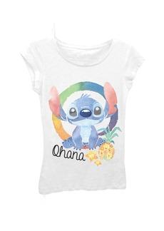 Disney Big Girls' Lilo Ohana Stitch Short Sleeve Tee  L