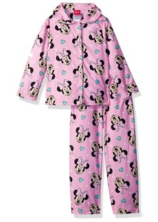Disney Big Girls' Minnie Mouse 2-Piece Pajama Coat Set