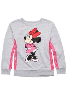 Disney Big Girls Minnie Mouse Lace-Trim Top