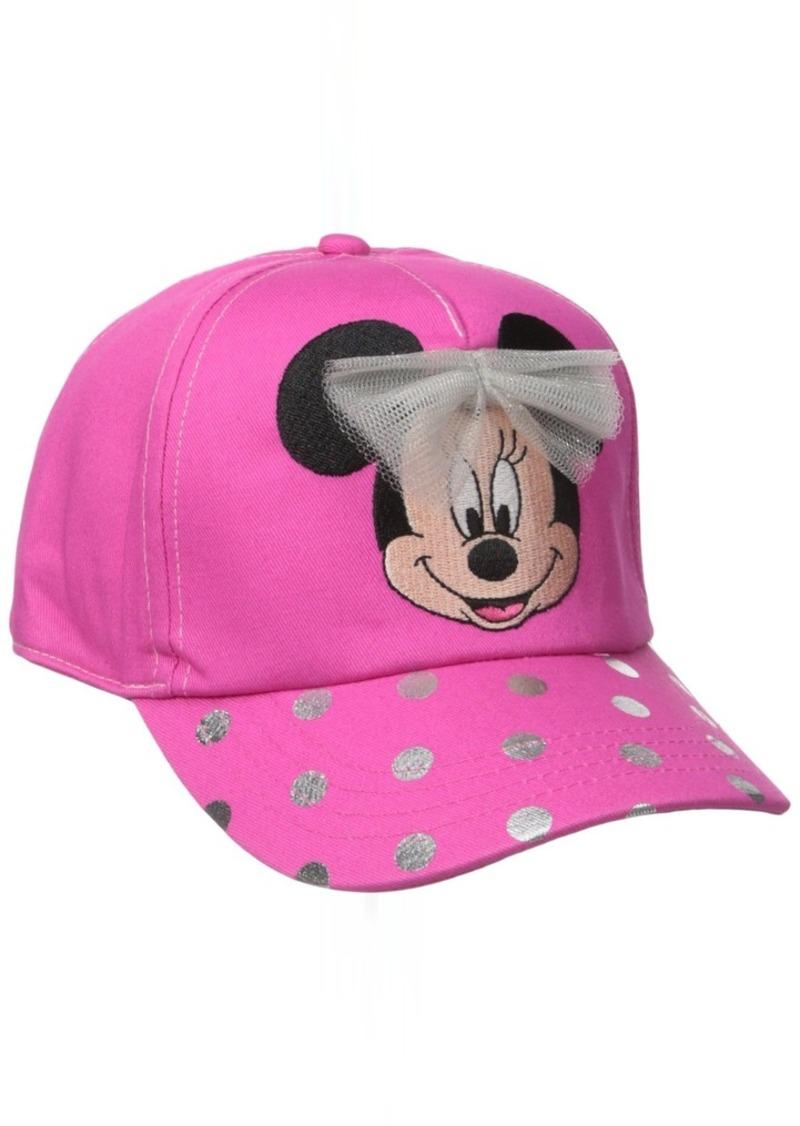 Disney Big Girls' Minnie Mouse Polka Dot Brim Hat