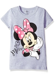 Disney Big Girls Minnie Mouse Short Sleeve T-Shirt  XL