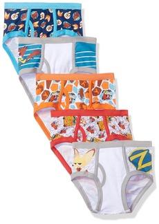 Disney Boys' Little 5-Pack Zootopia Brief Underwear