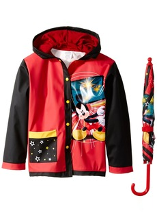 Disney Little Boys' Mickey Video Game Slicker and Umbrella Multi