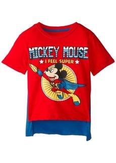Disney Little Boys' Toddler Mickey Mouse Super Short Sleeve Cape T-Shirt