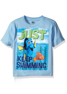 Disney Little Boys' Toddler Finding Dory Just Keep Swimming Dory and Nemo Short Sleeve T-Shirt