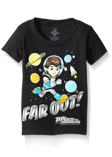 Disney Little Boys' Toddler Miles from Tomorrowland Far Out Short Sleeve T-Shirt
