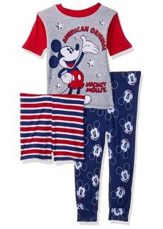 Disney Boys' Toddler Mickey Mouse Americana 3-Piece Pajama Set