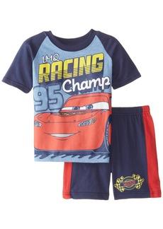 Cars Little Boys' Toddler Disney's Short Sleeve Colorblock T-Shirt and Jersey Short 2-Piece Set