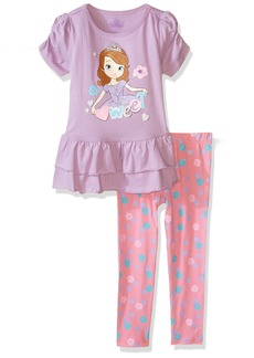 Disney Girls' 2 Piece Sofia The First Legging Set Long-Sleeve