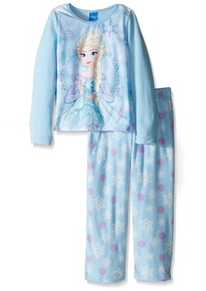 Disney Girls' Big Girls' Frozen Elsa Fleece 2-Piece Pajama Set Blue