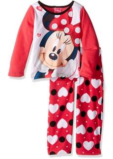 Disney Girls' Big Girls' Minnie Mouse 2-Piece Fleece Pajama Set