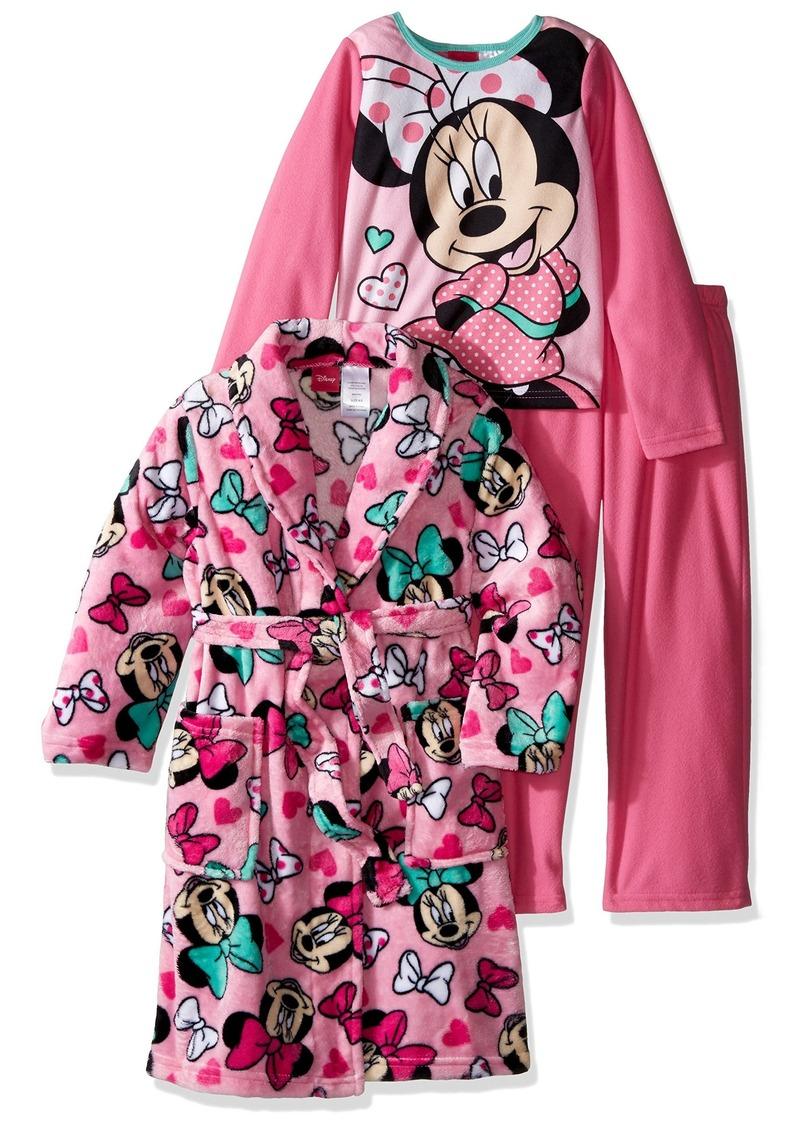 Disney Big Girls' Minnie Mouse 3-Piece Pajama Set with Robe  7/8