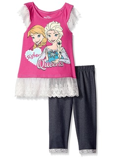 Disney Girls' Frozen 2-Piece Legging Set Lace