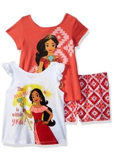 Disney Girls' Little Elena of Avalor 3 Piece Short Set