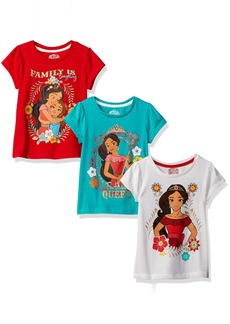Disney Girls' Little Girls' 3 Pack Elena of Avalor T-Shirts