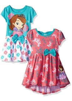 Disney Little Girls' Toddler Sofia The First 2 Pack Dresses Multi