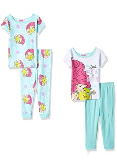 Disney Girls' Little Mermaid 4-Piece Cotton Pajama Set  18M