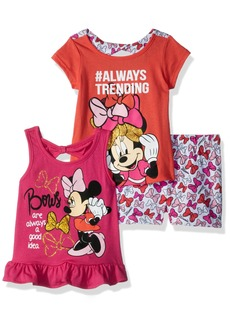 Disney Girls' Little Minnie 3 Piece Short Set