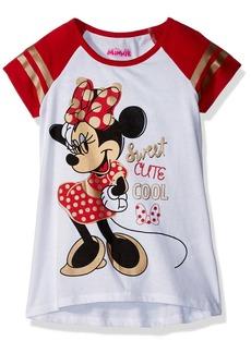 Disney Girls' Little Minnie Mouse Short Sleeve Tee Shirt