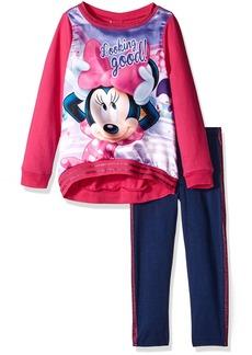 Disney Girls' Minnie Mouse 2-Piece Legging Set Sweatshirt