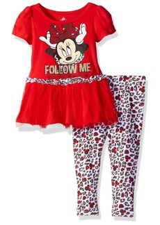 Disney Girls' Minnie Mouse 2-Piece Legging Set Tulle  6X
