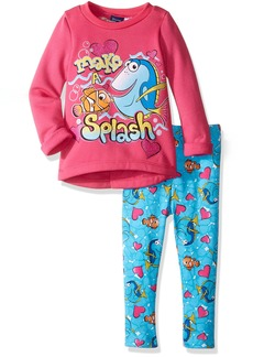 Disney Little Girls' Toddler Finding Dory Legging Set with Fleece Top