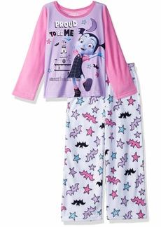 Disney Girls' Toddler Vampirina 2-Piece Fleece Pajama Set