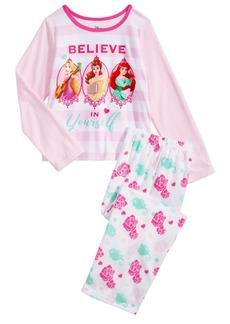 Disney Little & Big Girls 2-Pc. Princesses Pajama Set