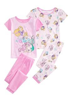 Disney Little & Big Girls 4-Pc. Princess Pajamas Set