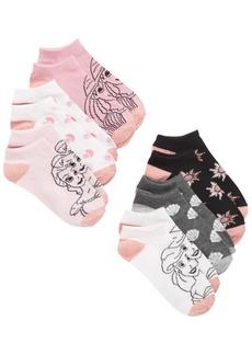 Disney Little & Big Girls 6-Pk. Princesses No-Show Socks