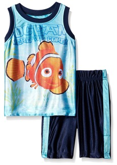 Disney Little Boys' Toddler 2 Piece  Finding Dory Dazzle Muscle Top and Short Set Blue