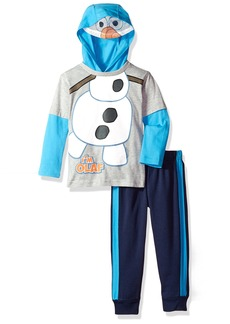 Disney Little Boys' 2 Piece Olaf The Snowman Hooded Top with Mask