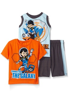 Disney Little Boys' Toddler 3 Piece Miles of Tomorrow Land T-Shirt and Muscle T-Shirt Shorts Set