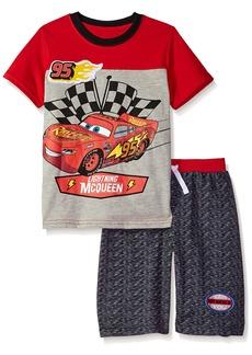 Disney Boys' Little Cars Crew Neck Short Set red