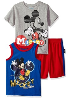 Disney Boys' Little Mickey 3 Piece Short Set