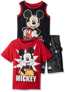 Disney Little Boys' Mickey 3 Piece Short Set