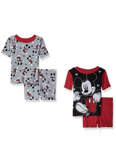 Disney Little Boys' Mickey 4-Piece Cotton Pajama Set