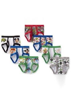 Disney Little Boys' Mickey 7 Pack Brief Multi