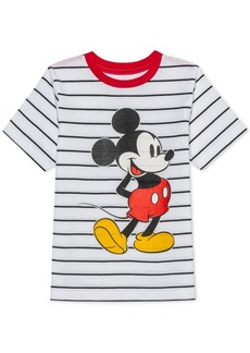 Disney Toddler Boys Mickey Mouse Stripe T-Shirt