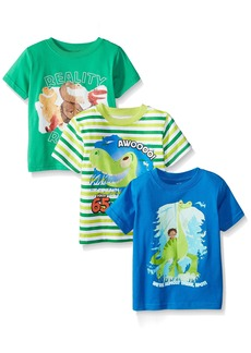 Disney Little Boys' The Good Dinosaur T-Shirts  (Pack of 3)