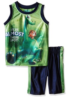 Disney Little Boys' Toddler 2 Piece The Good Dino Dazzle Muscle Top and Short Set Green