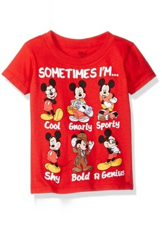 Disney Little Boys' Toddler Mickey Mouse Short Sleeve T-Shirt