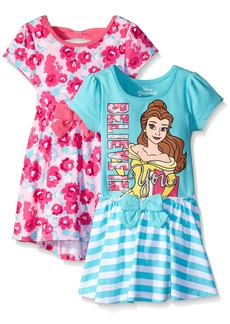 Disney Little Girls' Toddler 2 Pack Belle Dresses