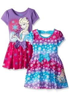 Disney Little Girls' Toddler 2 Pack Elsa Frozen Dresses