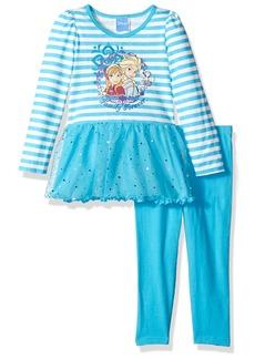 Disney Little Girls' 2 Piece Anna and Elsa Dress Set